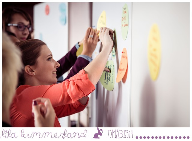 Unsere Ideen an Flipcharts. Fehlt euch etwas im dm-Sortiment? Verratet es mir in den Kommentaren! Foto: Johannes Dreuw