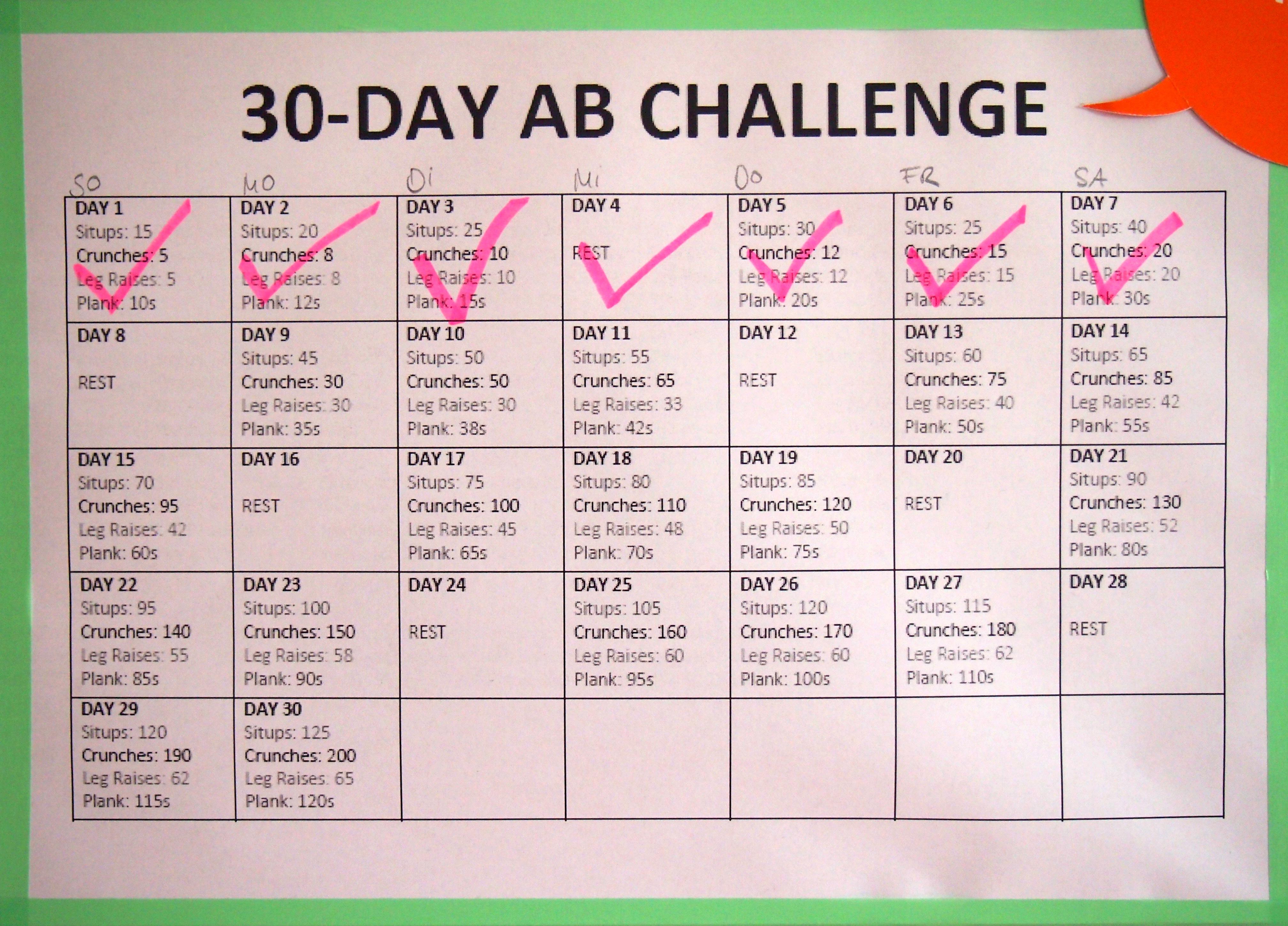 30 day ab challenge update an tag 8 lila lummerland. Black Bedroom Furniture Sets. Home Design Ideas