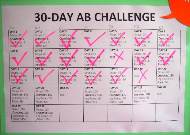 30 day ab challenge update day 22