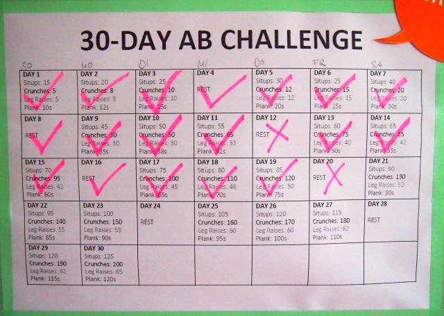 30 day ab challenge update day 22