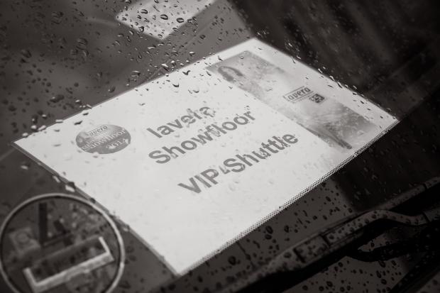 Das VIP Shuttle zur Fashion Show.