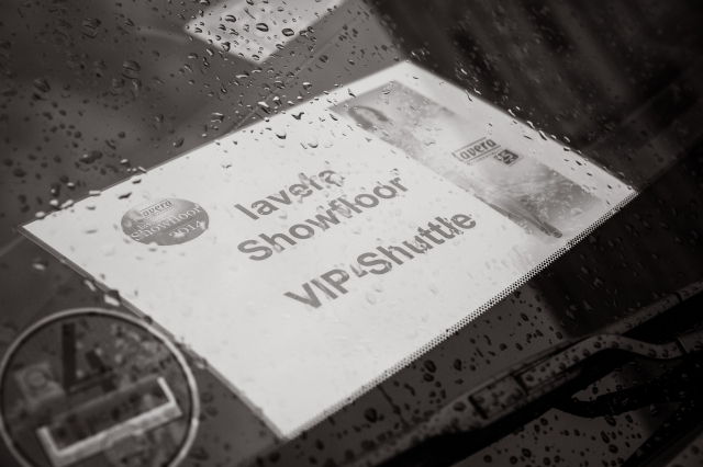 Das VIP Shuttle zur Fashion Show.