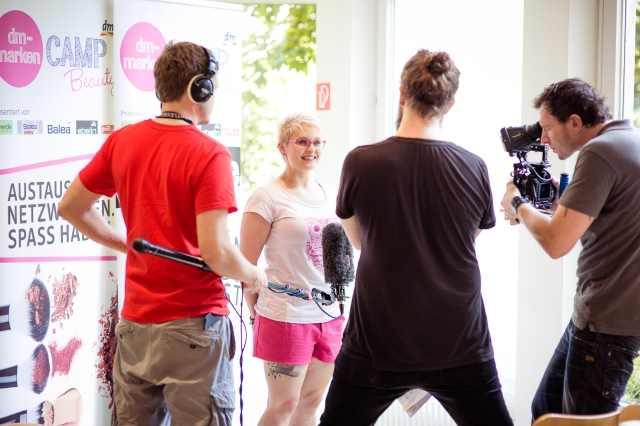 Und ich beim Dreh für die Teaser-Videos. Foto: Johannes Dreuw