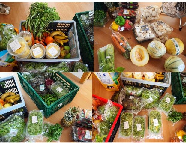 lebensmittelretten-ausbeute-salat-ananas-erdbeeren-melone-rucola-pilze