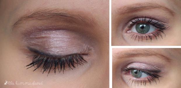 color-up-eyeshadow-tarte-delight-amu-tragebild-rosa-grau-cream-schimmer