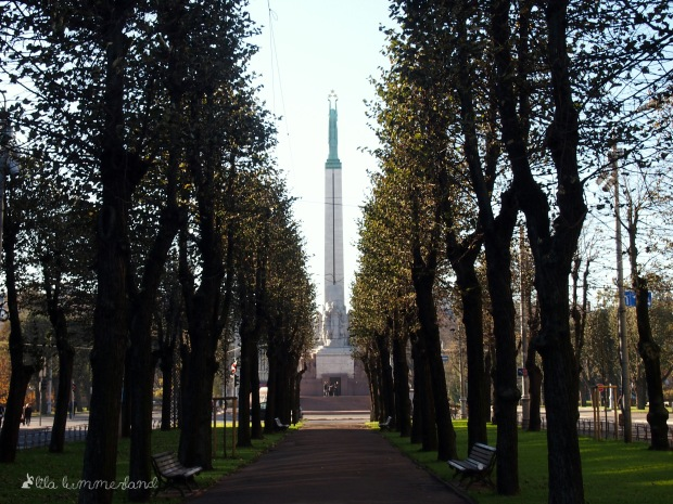 Der Eingang zu Rigas Altstadt: Das Freiheitsdenkmal