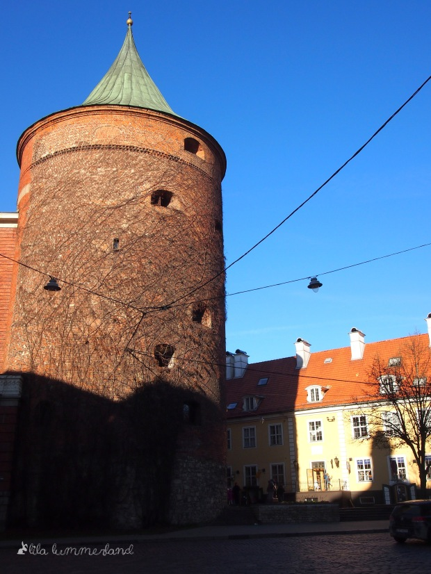 Der Powder-Tower in der Altstadt von Riga