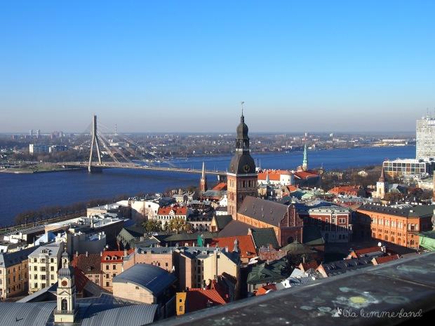 Überblick über Riga: Die Aussicht vom Turm der Petrikirche aus.