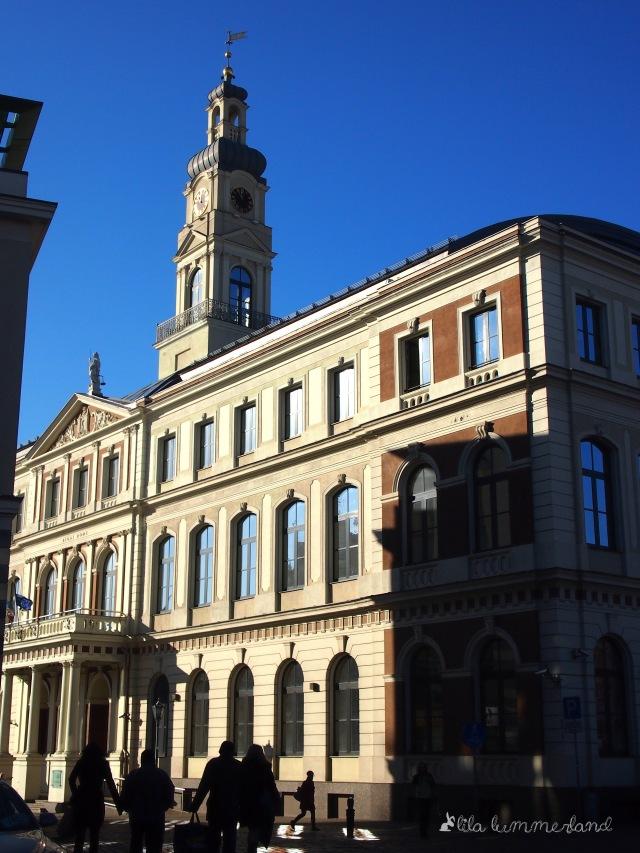 Das Rathaus von Riga am Ratslaukums