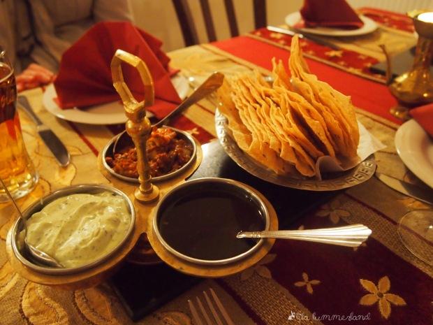 taste of india bonn vorspeise brot dips