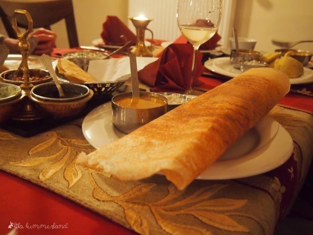 taste of india reis pfannkuchen groß vorspeise viel glück
