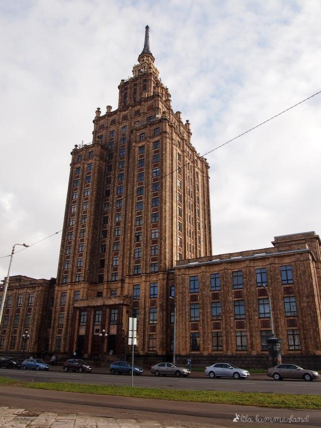Die lettische Akademie der Wissenschaften in Riga