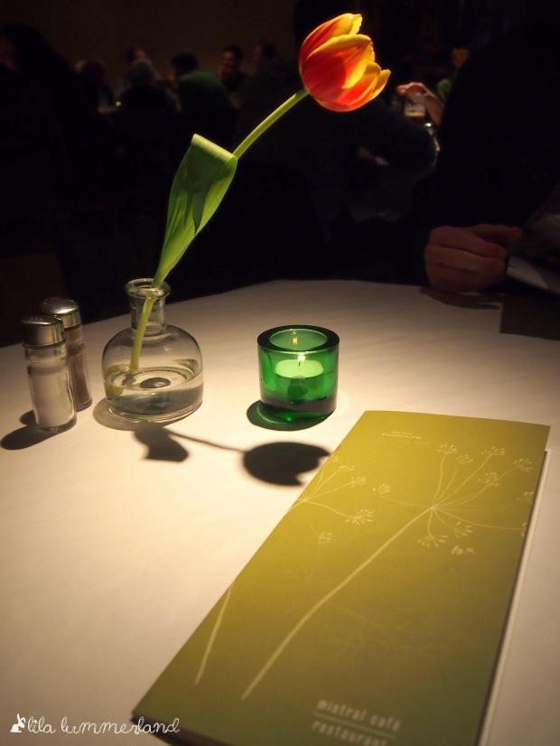 Tischdeko  im mistral café
