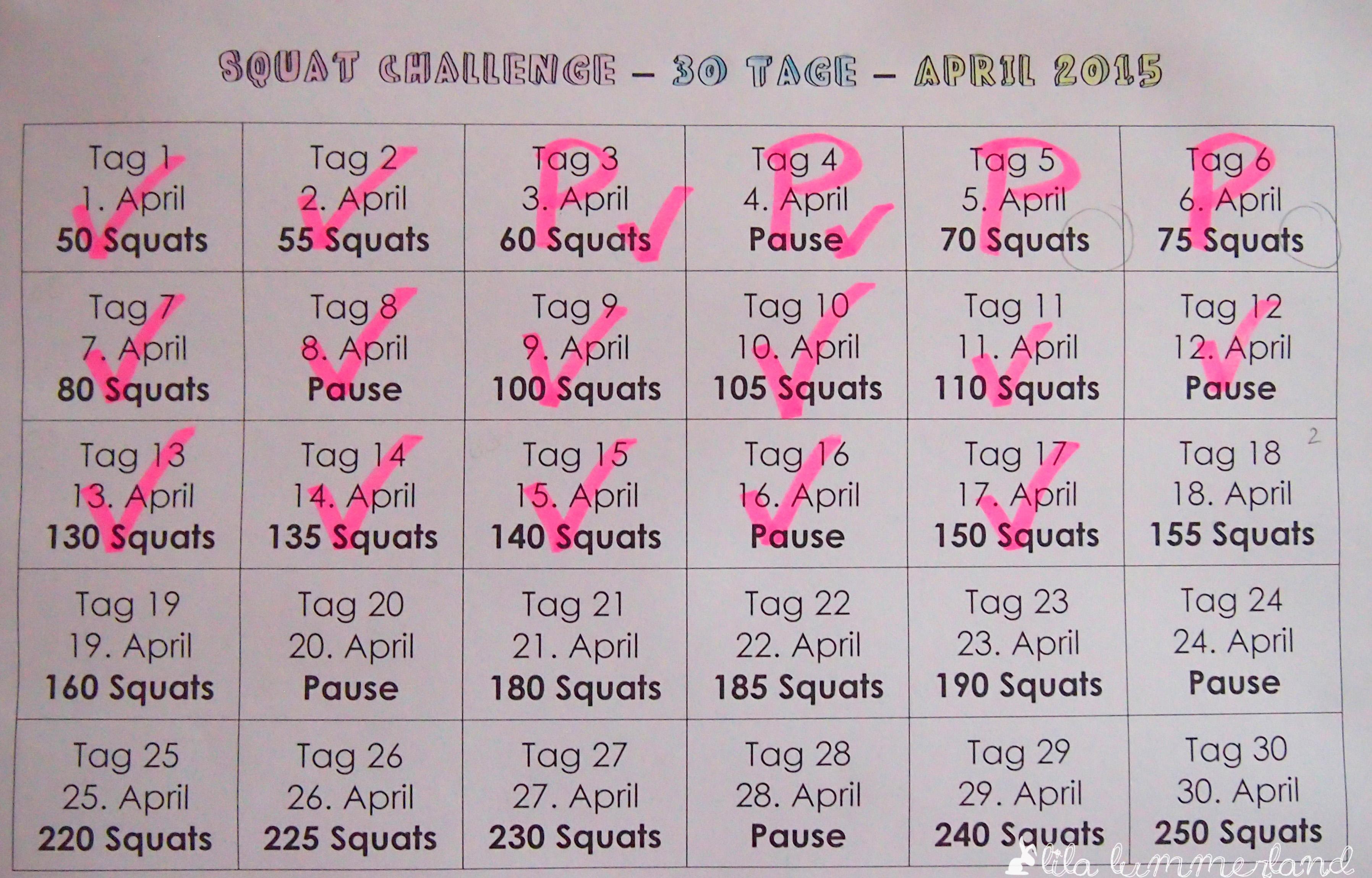 30 tage squat challenge ein update lila lummerland. Black Bedroom Furniture Sets. Home Design Ideas