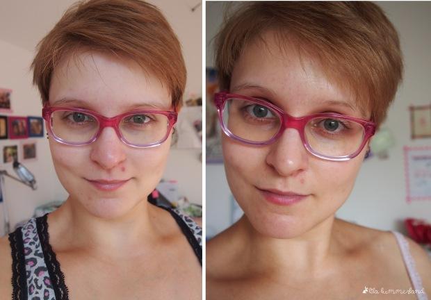 links: vorher; rechts: nach einmaliger Anwendung