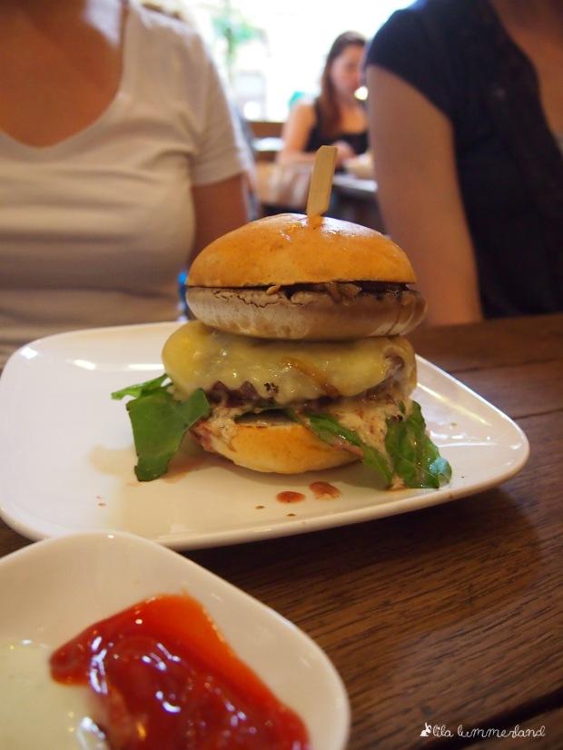 Der Porto Bello Burger mit Riesen-Champignon