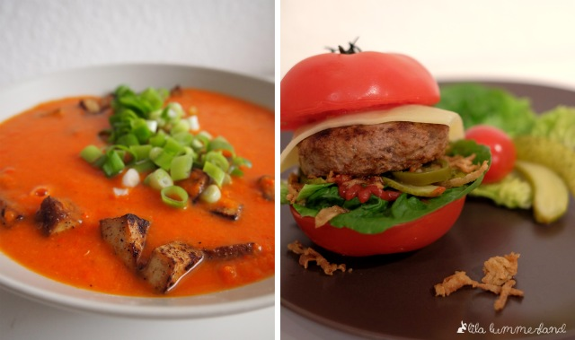 Zwei meiner Low Carb Rezepte könnt ihr bereits hier nachlesen: Die Tomaten-Paprika-Suppe mit Tofu und den Tomami-Burger ;)